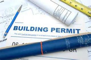 Picture of building permit